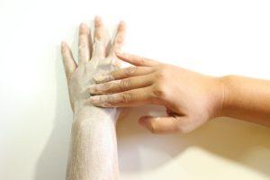 Peeling an Händen