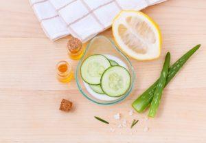 Zutaten für eine Hautmaske
